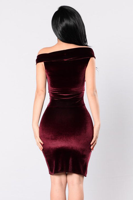 A| Chicloth Felicity & Coco Vera Burnout Velvet Midi Dress-Custom Made Dresses-Chicloth