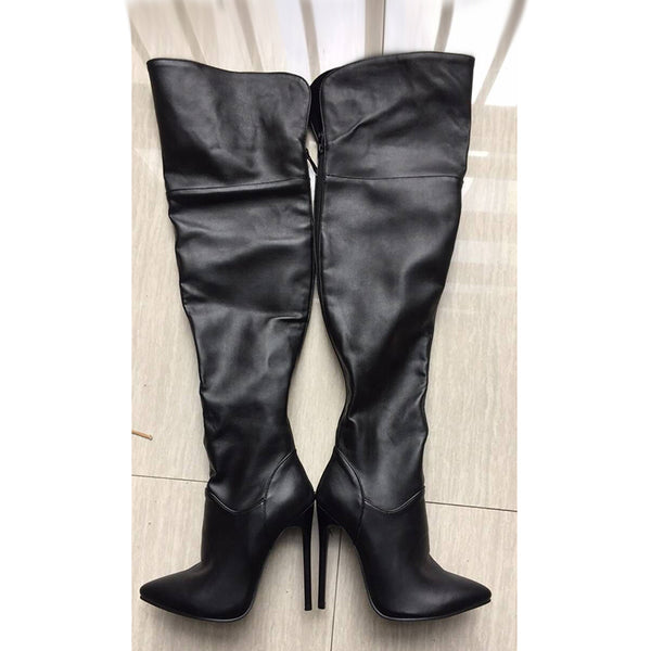 B| Chicloth Pointed toe boots Fashion Stiletto Style Over The Knee Boots-Boots-Chicloth