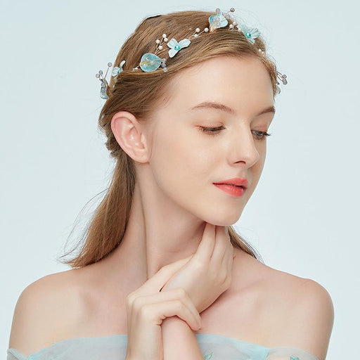 Chicloth Contracted Flower Golden Hair Hoop Headpieces-Headpieces-Chicloth