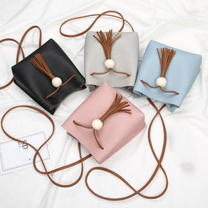 Chicloth Soft PU Leather Mini Bucket Clutches