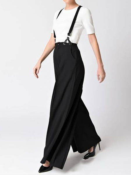 Chicloth Casual Shift Solid Summer Overall-Chicloth