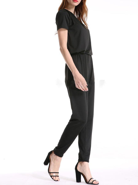 Chicloth Casual Solid Single Sleeve Jumpsuit-Chicloth