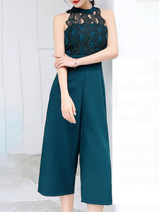 Chicloth Elegant Lace Paneled Jumpsuit
