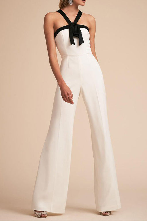 Chicoth Sexy Color-block Halter Jumpsuit-Chicloth
