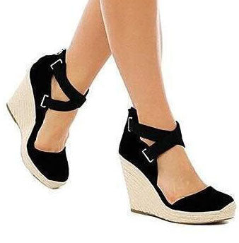 7e87376b48 Chicloth Ladies Summer Shoes Woman Zapatos Mujer Women Wedge  Sandals-Sandals-Chicloth