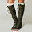 B| Chicloth Women Battani Vintage Brown Leather Lace-Up Boots-Boots-Chicloth
