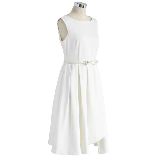 Chicloth A-line Little White Dress