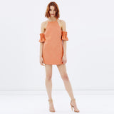 Chicloth Open Back Orange Dress