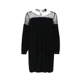 Chicloth See-through Top Black Dress