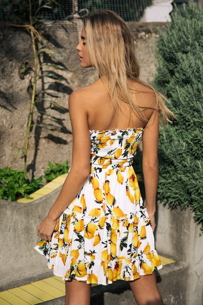 Chicloth Fashion New Style Lady Short Dress Strapless Summer Dress  03