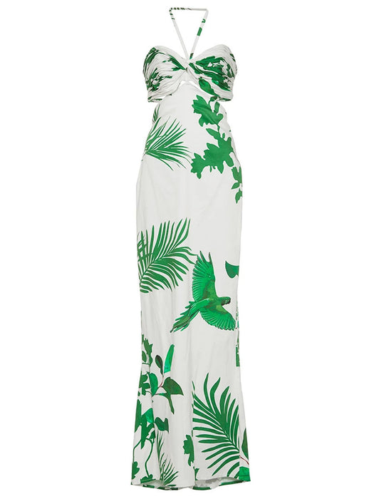 Chicloth Open Back Floral Print Dress-Chicloth