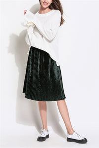 A| Chicloth O-Neck Women Knitted Sweaters