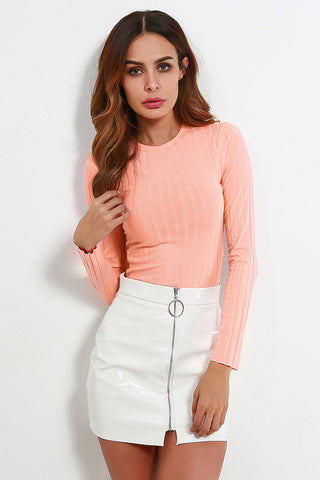 A| Chicloth 2018 Fashion Women Crew Long Sleeve Casual Tops Clothing-Chicloth