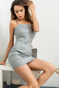 A| Chicloth New 2018 Plaid Strappy Women's Party Dress - Chicloth
