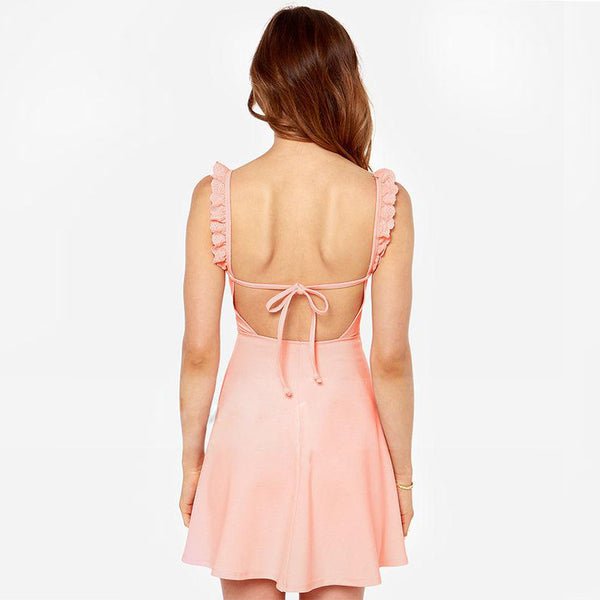 Chicloth Backless Cute Party Dress