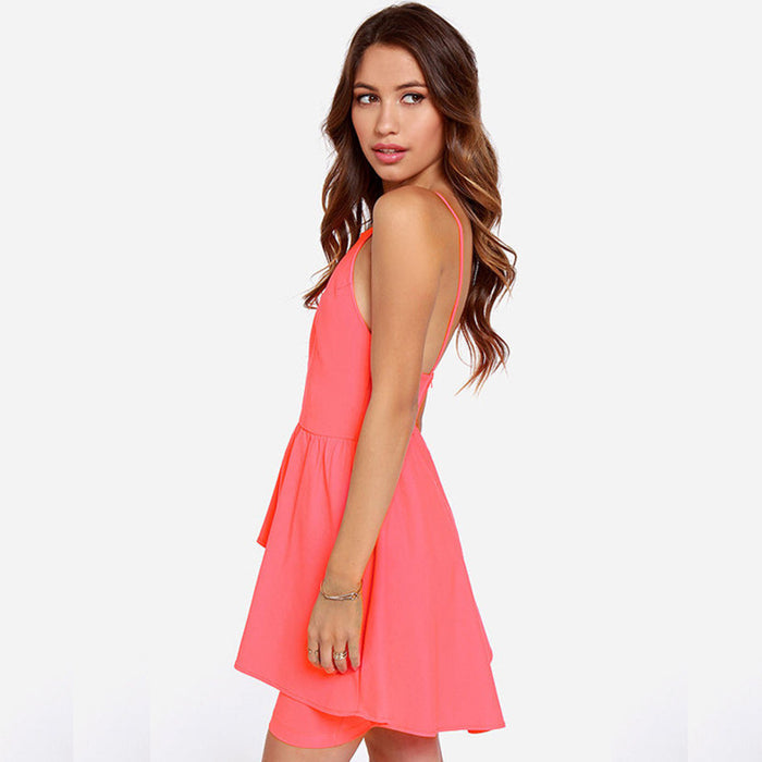 Chicloth Open Back Sleeveless Dress-Chicloth