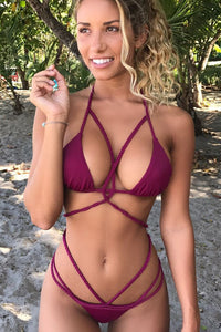 A| Chicloth All the Colors Ava Bikini Top - Chicloth