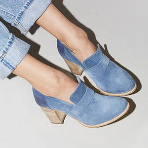 Chicloth Casual Suede Chunky Heel Slip-On Boots-boots-Chicloth