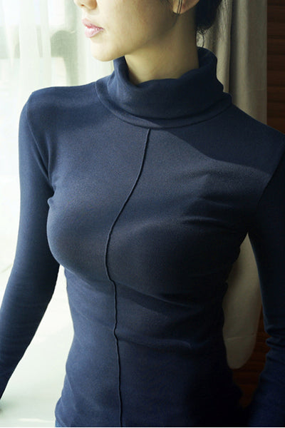 A| Chicloth Female Soft Korean Style Skinny Winter Turtleneck Sweaters