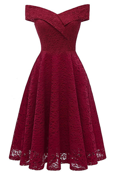 A| Chicloth 2018 Red Bridesmaid Dresses Short Dresses for Wedding Party Formal Dress