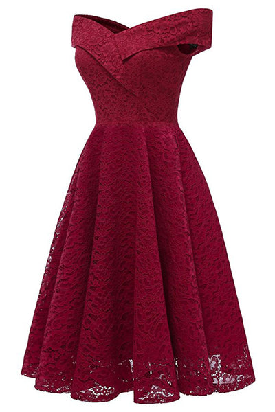 A| Chicloth 2018 Red Bridesmaid Dresses Short Dresses for Wedding Party Formal Dress(In Stock)-Chicloth
