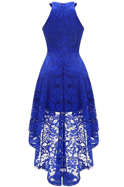 A| Chicloth 2018 Lace Dress Female Robe Casual 1950s Rockabilly High Low Sleeveless Swing Summer Dresses-Chicloth