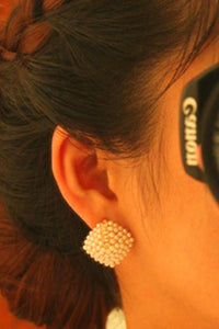 A| Chicloth Alloy Diamante White Elegant Pearl Earrings(In Stock)-Chicloth