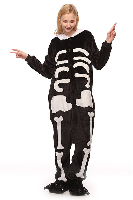 Chicloth Adult Skeleton One Piece Pajamas-Pajamas-Chicloth