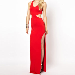 Chicloth Simple Cut-out Evening Dress