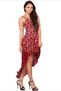 Chicloth Spaghetti Strap High Low Dress-Chicloth