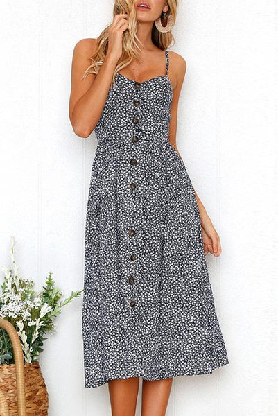 AA| Chicloth High Quality Special Sleeveless Women Midi Dress