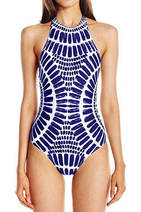 A| Chicloth Hot Sale Black And White Print One Piece(In Stock)-swimwears-Chicloth