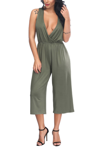 B| Chicloth Army Green Ployester Sexy Jumpsuits-Jumpsuits-Chicloth