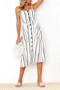 AA| Chicloth High Quality Special Sleeveless Women Midi Dress-Chicloth