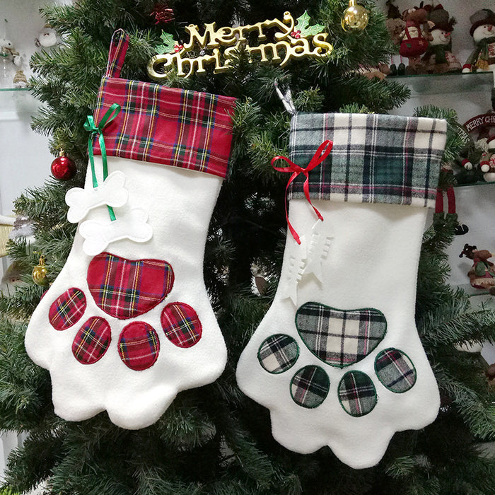 C| Chicloth Christmas Stocking Holders Pet Cat Paw-Christmas Accessories-Chicloth