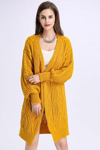 A| Chicloth Women's Winter Twist Knitted Open Front Poncho Long Oversized Sweaters