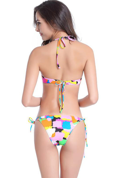 Chicloth Brilliantly colored Halter Bikini Set - Chicloth
