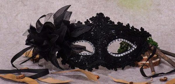 Chicloth Feather Dance Party Makeup Halloween Mask - Chicloth