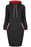 A| Chicloth High Neck Drawstring Pocket Pencil Dresses-Midi Dresses-Chicloth