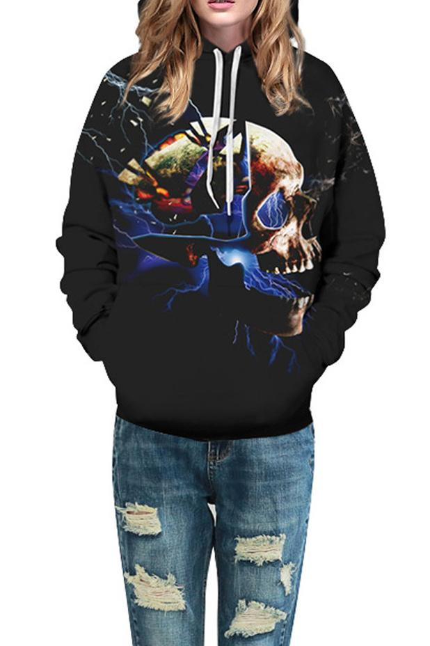 B| Chicloth Unisex Galaxy Graphic 3D Print Long Sleeve Hoodie Halloween Costumes-Halloween Costumes-Chicloth