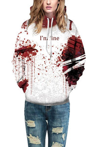 B| Chicloth Blood Print Long Sleeve Hoodie Coat Jacket Sweatshirt-Halloween Costumes-Chicloth