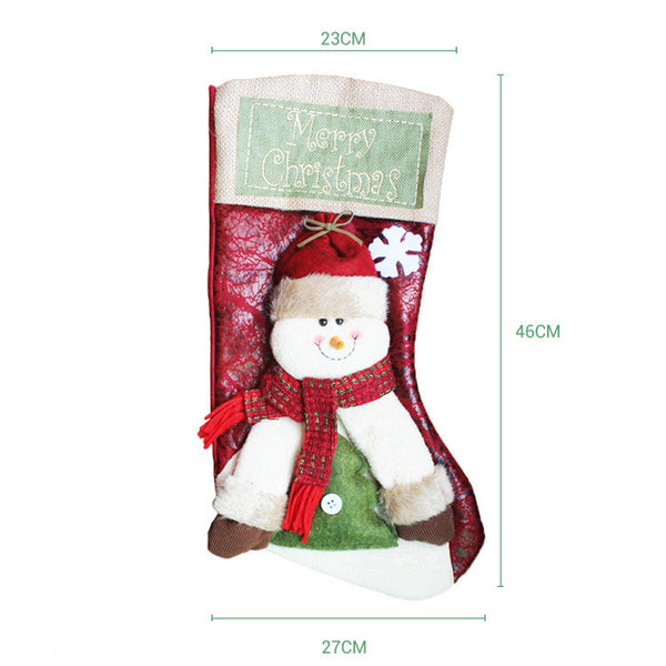 C| Chicloth New Year Christmas Socks Santa Claus-Christmas Accessories-Chicloth