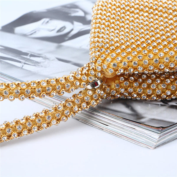 A| Chicloth Women's Bags Silk Evening Bag Pearls Gold / Silver-Clutches-Chicloth