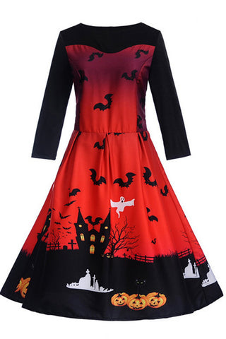 B| Chicloth Halloween Vintage Pin Up Dress