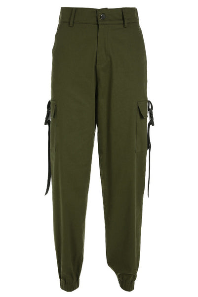 A| Chicloth Women Capris Chain Cargo Pants Trousers-Pants-Chicloth