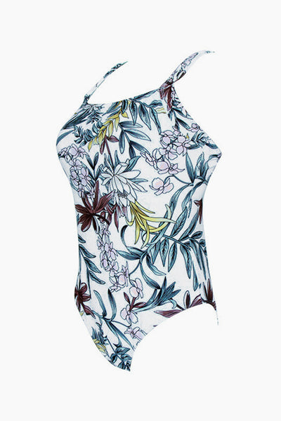 B| Chicloth Retro Style Floral Print One Piece Swimsuit Bikinis-One-Pieces-Chicloth
