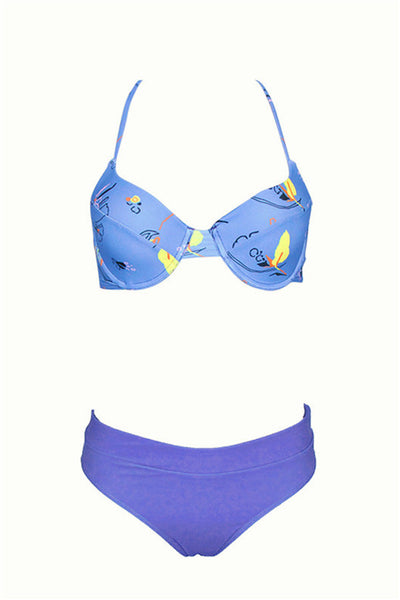 B| Chicloth Bikini Sets Out From Under Printed Underwire Bikinis-Bikinis-Chicloth