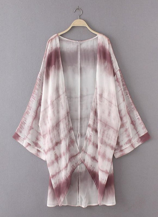 B| Chicloth Women Chiffon Kimono Cardigan Beach Cover Up-polyester,chinlon,coverup-Chicloth