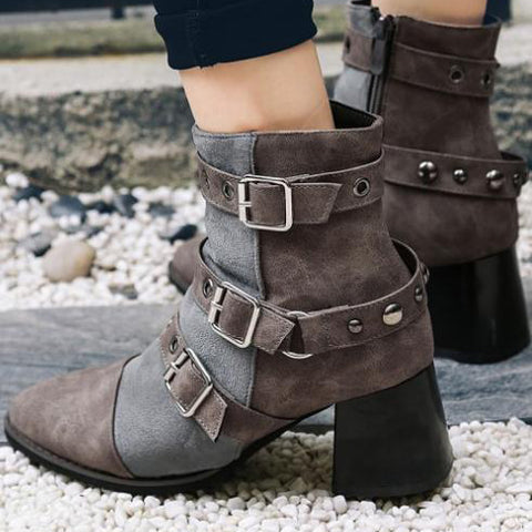 A| Chicloth Fashion Bandage Ankle Boots Shoes