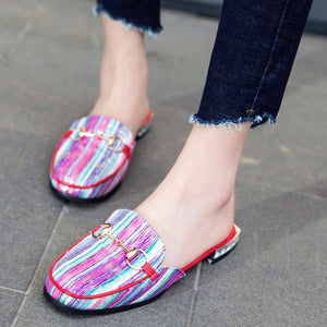 Chicloth Colorful Daily Summer Chain Chunky Slippers